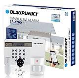 Blaupunkt Funk-Alarmanlage SA 2700 I Mit GSM-Modul I Sicherheitssystem mit Bewegungsmelder, Tür/Fenstersensor, Fernbedienung, App I Alarmierung über das Mobilfunknetz I...