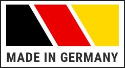 BRD Flagge: Blockalarm Alarmanlagen werden in Deutschland hergestellt.